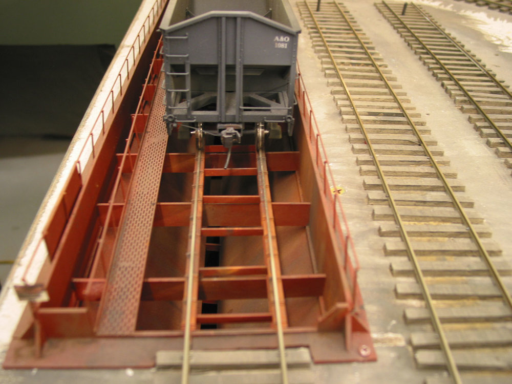There are two coal dumps in Fillmore for industrial power generation. They were made from styrene and brass.Four such Buckeye Power & Light coal dump-trestles are planned for A&O 2.0.