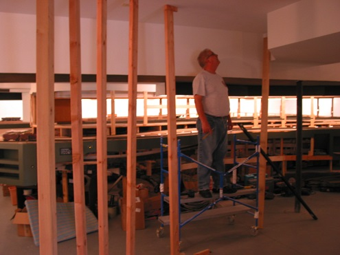 Bill Wood's carpentry experise is invaluable to this process.