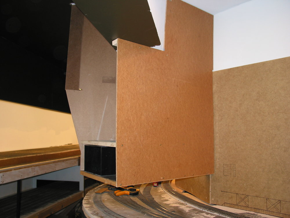 "The templates have become 3/8"" hardboard and pineboards form the interior shelves."