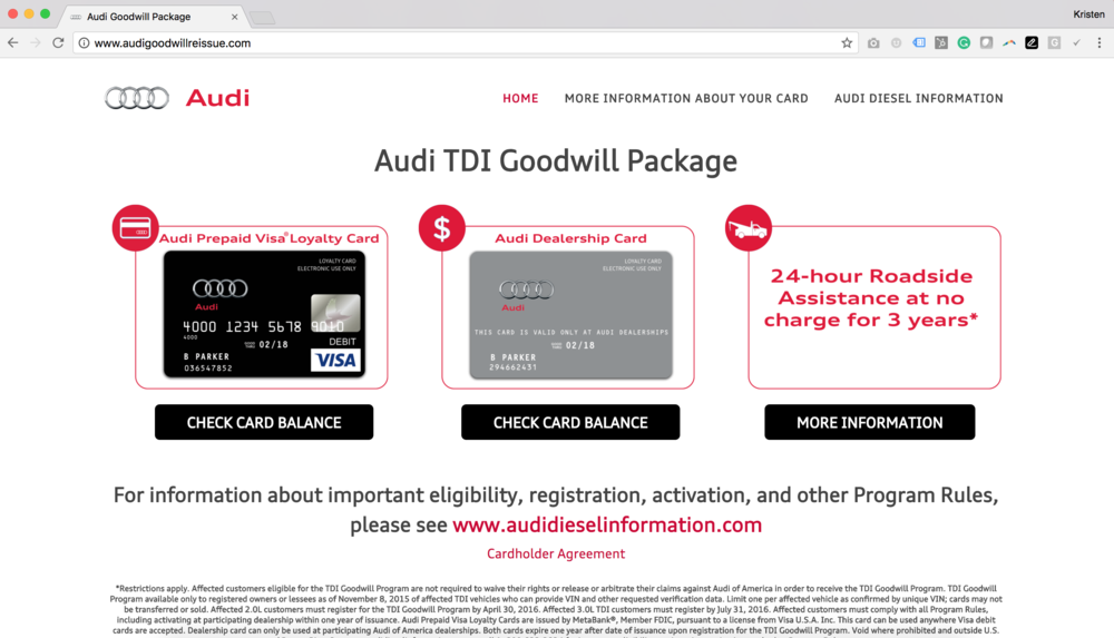 Audi Goodwill Package