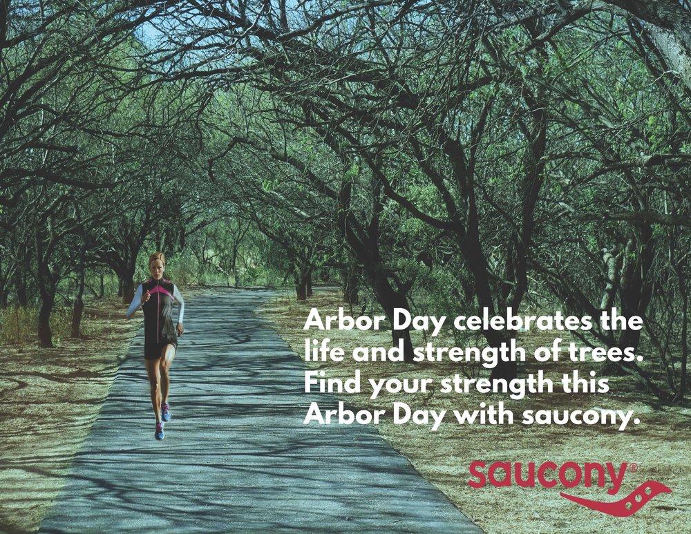 Mock Arbor Day/saucony advertisement I created in school.