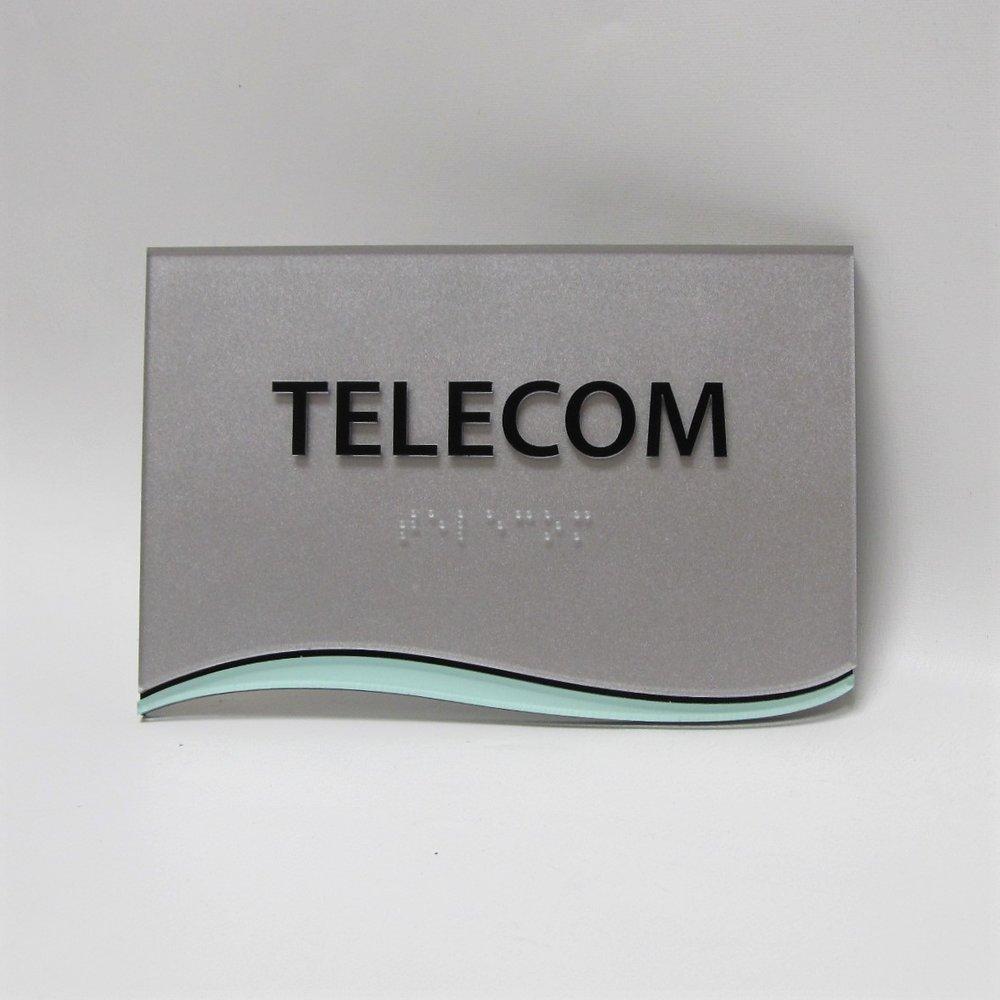 custom silver shape office acrylic accent sign