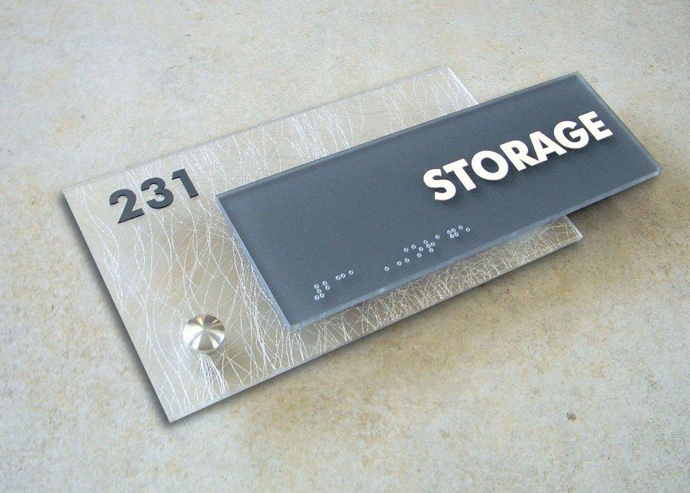 custom braille ada 3 form acrylic general electric ada sign