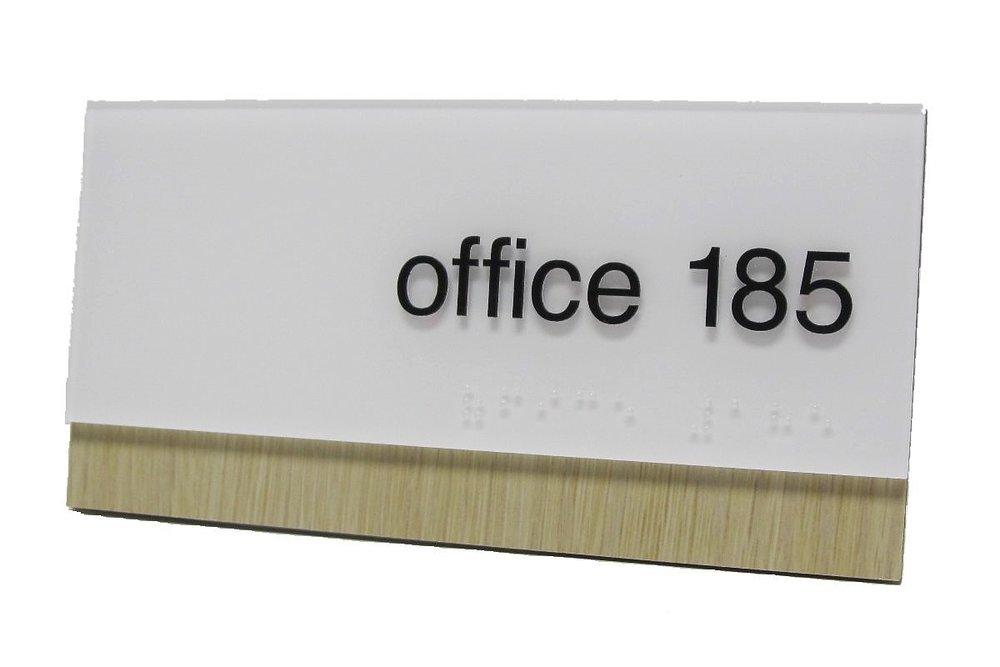 google ada office sign wood acrylic