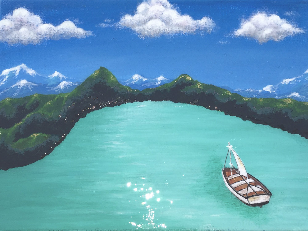 Sangeeta Singh-Kurtz,  Blanca Lake,  oil on canvas