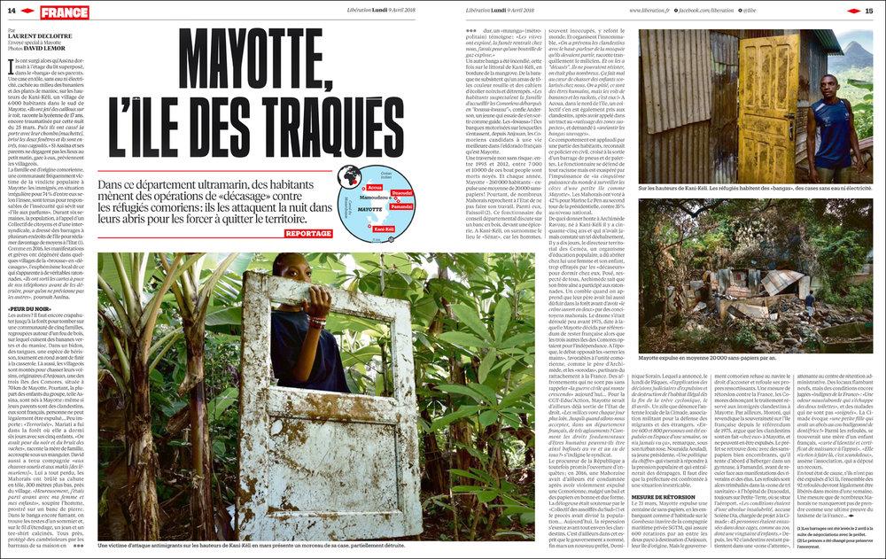 Reportage pour  LIBERATION  - Avril 2018