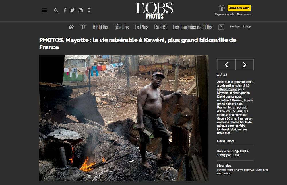 NOUVEL OBS  (Web). Mai 2018