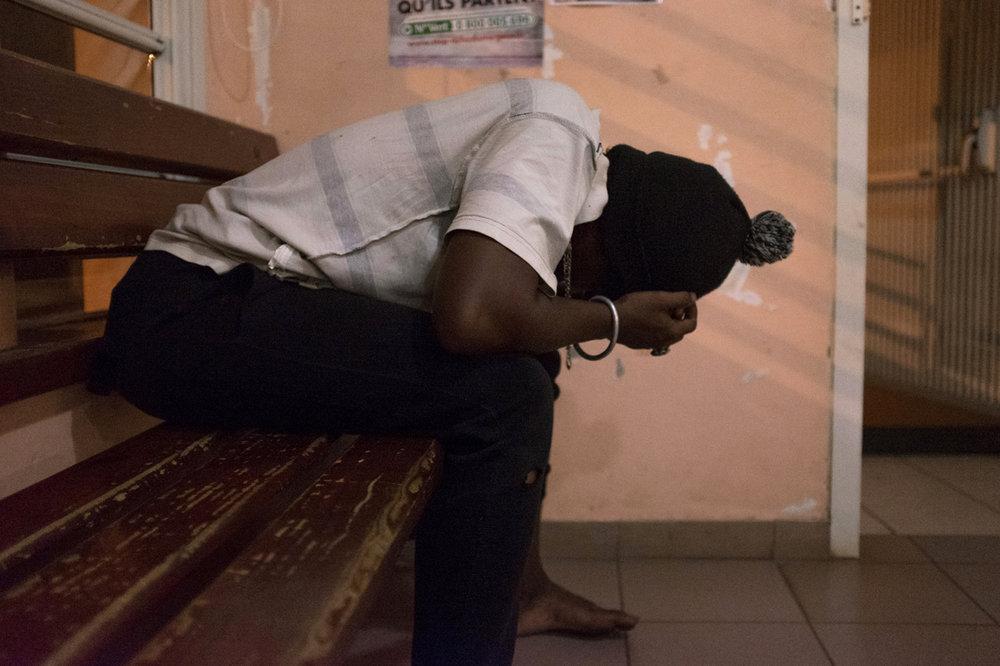 Toihibou au commissariat de Mamoudzou .La délinquance et la violence à Mayotte ont pris des proportions inquiétantes ces derniéres années.