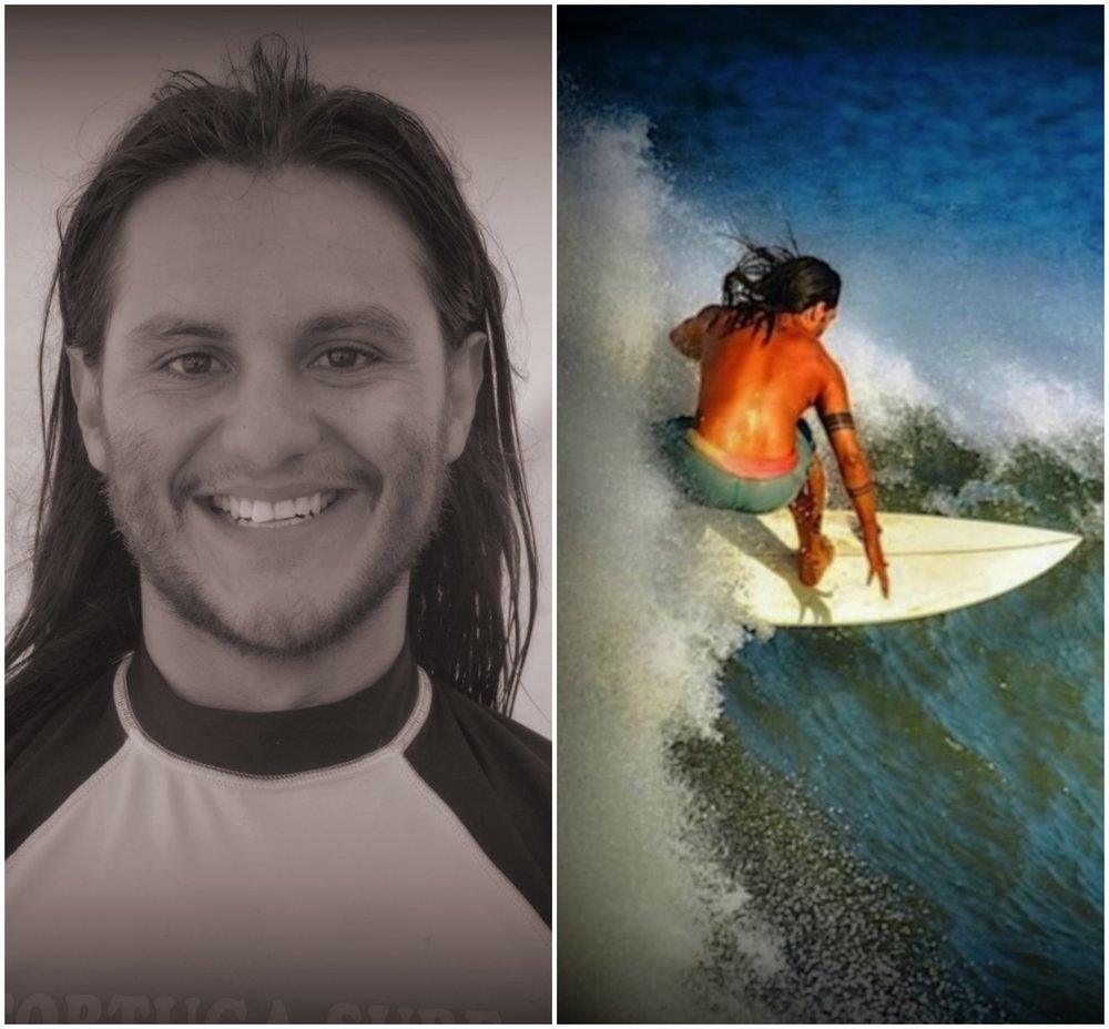 Pablo Figuls Surf instructor   Our Tico boy originally from the capital city of san jose costa rica this former professional and national boxing champion is our clean and healthy eater who keeps us in line with our diets and helps us all try to leave a healthier more conscious life with a minimal print on our planet. Pablo is also a personal fitnes trainer so this sport background as well as his amazing surfing where a perfect mix for our water family.