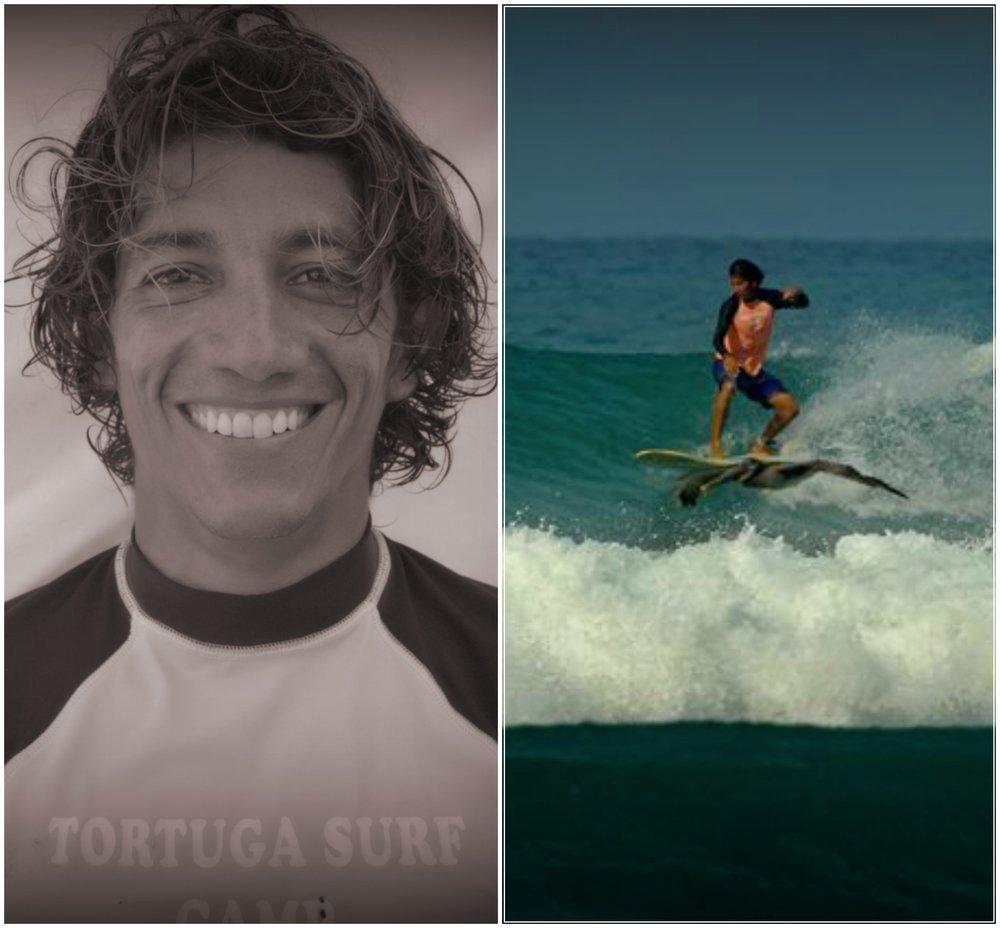 Michael Gutierrez Head instructor   This lifeguard & ISA certified water man is our head instructor. Mike began working with tourist at a diving shop in puerto viejo on the Atlantic side of the country at a young age and eventually moved to jaco beach in the search of waves and stayed for good and dedicate his life to surfing and teaching surf. Michael's lifetime water background as a diver and boat driver was transformed with the years in his ability to surf a variety of conditions and types of boards and a talent for teaching.