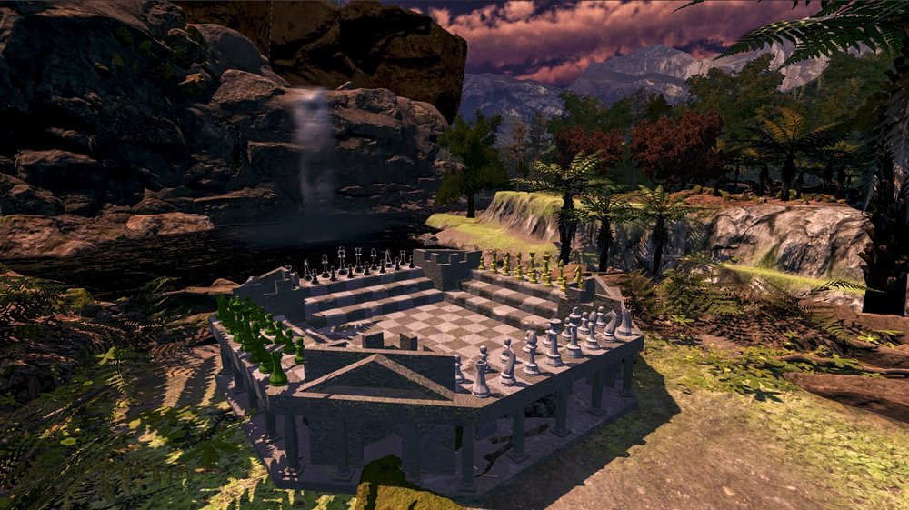 Four Kings One War - Chess Variant Waterfall Environment