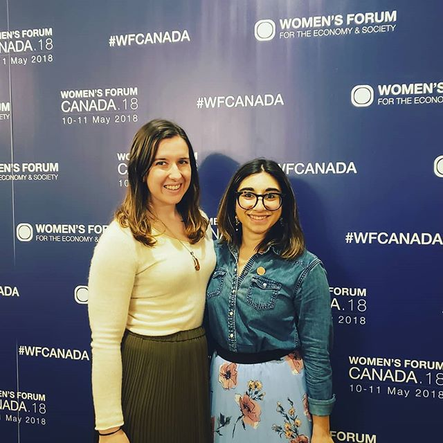 The Y7 Team was excited to present and share the Y7 climate recommendations at the Womens Forum yesterday!  Regrann from @ydcanada -  @_heathere and @sabrinagrover from the Y7 Organzing Committee attended today's @womens_forum foc economy and society focused on mainstreaming the gender perspective and lens into the @g7canada conversation. #Y72018 #WFCanada #myG7 - #regrann