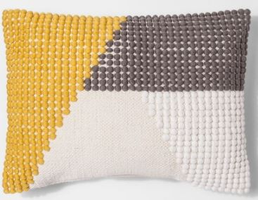 Color Block Lumbar Pillow