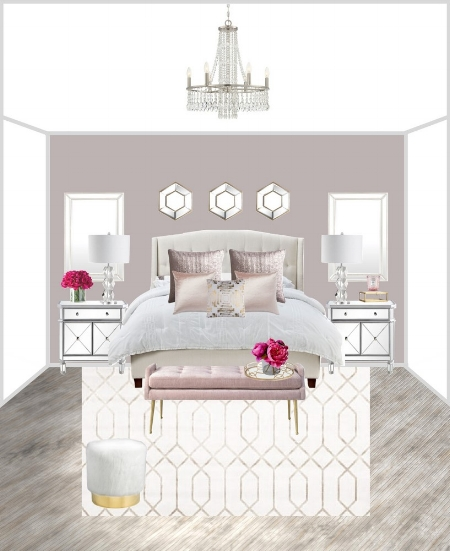 Blush Glam Bedroom