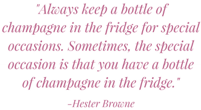 Hester Browne Champagne Quote