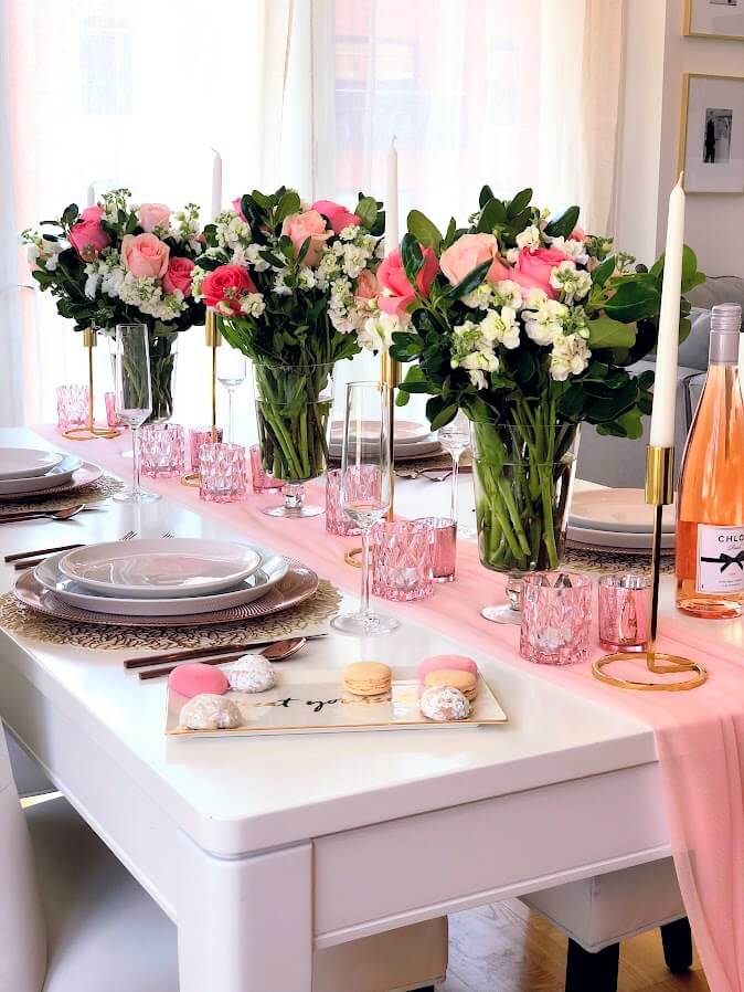 Blush Gold Tablescape