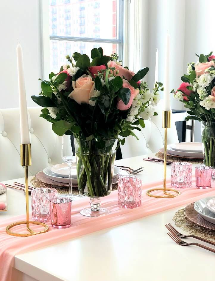 Blush Gold Table Decor