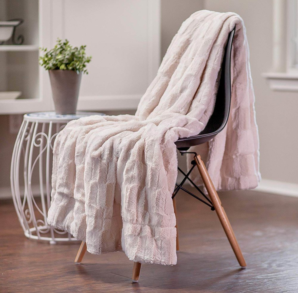 Cream Fur Throw Amazon