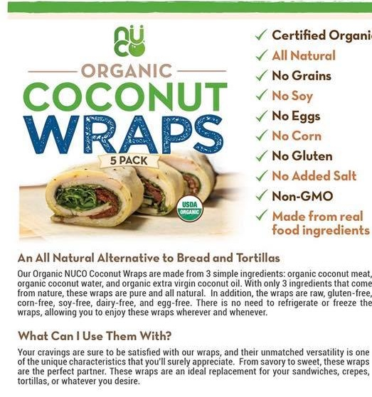 Nuco Coconut Wraps (Can Also Buy Thrive Market brand!)