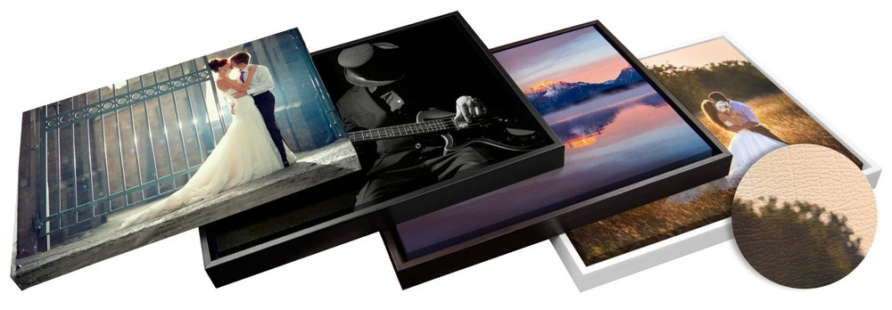 Leather Wrapped Photographs
