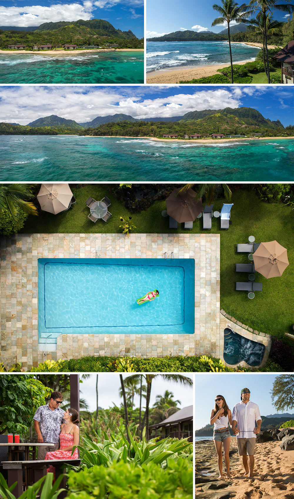 Drone and Lifestyle Photography for Resort located on the North Shore of Kauai