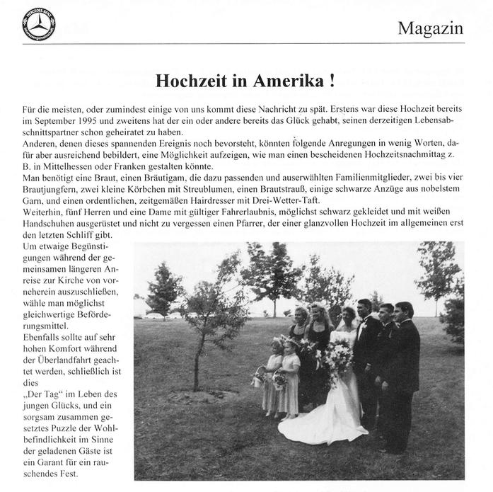 Hochzeit in Amerika!