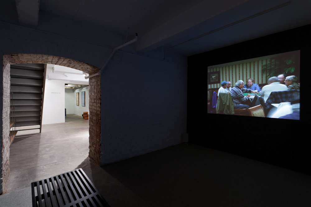 """JENNY JASKEY , """"THE VILLAGES"""" FEATURING ERIK BLINDERMAN & LISA RAVE, 2012, """"YOUNG CURATORS, NEW IDEAS IV,"""" INSTALLATION VIEW"""