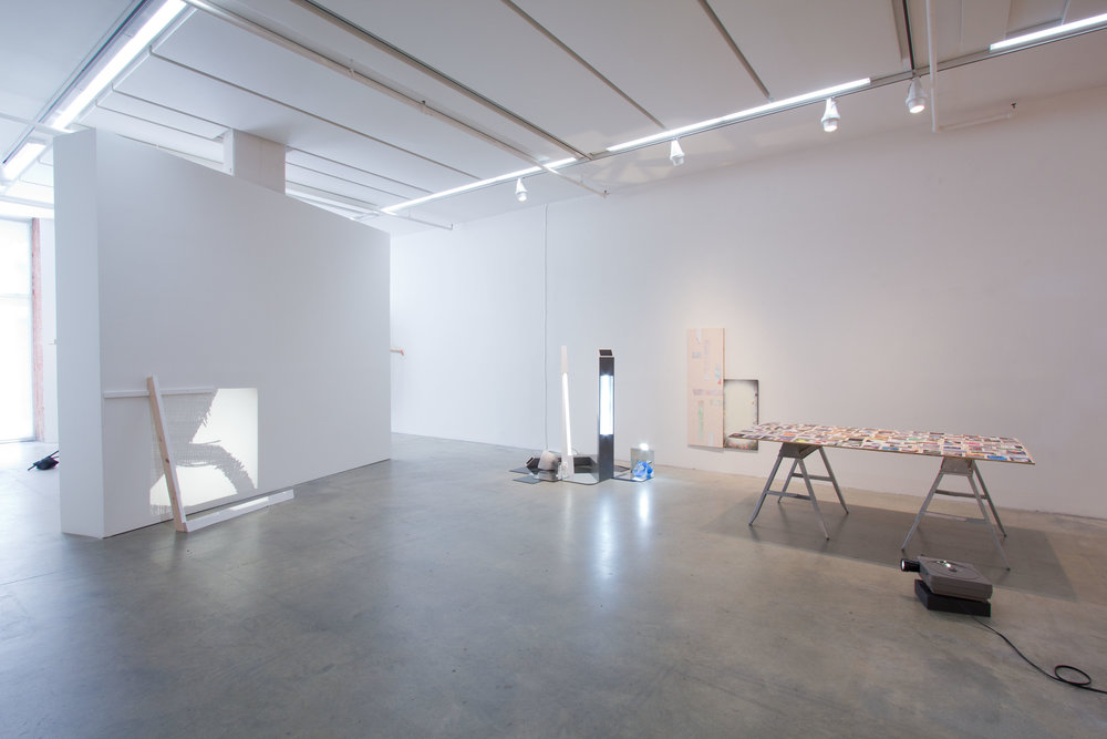 """RACHEL COOK , """"NOT-NOT-NOT IMAGE-OBJECTS"""" FEATURING STERLING ALLEN, JILLIAN CONRAD & RYAN LAUDERDALE, 2012, """"YOUNG CURATORS, NEW IDEAS IV,"""" INSTALLATION VIEW"""