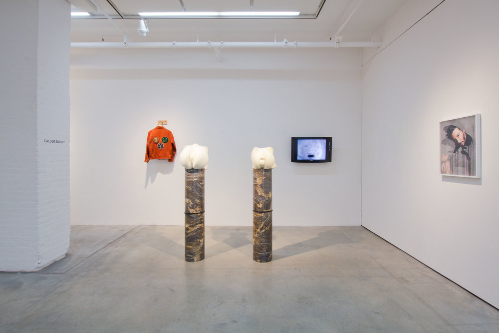 """CALDER ZWICKY , """"SIGILS"""" FEATURING PETER HOBBS & ADAM PARKER SMITH, 2012, """"YOUNG CURATORS, NEW IDEAS IV,"""" INSTALLATION VIEW"""