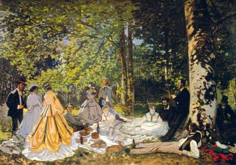 The Picnic, Claude Monet, 1865-6