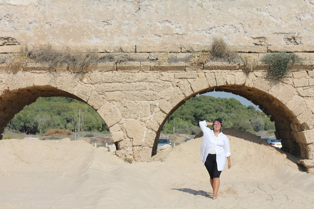 Location: Caesarea Aqueducts Beach,  Cae  sarea National Par k, Israel