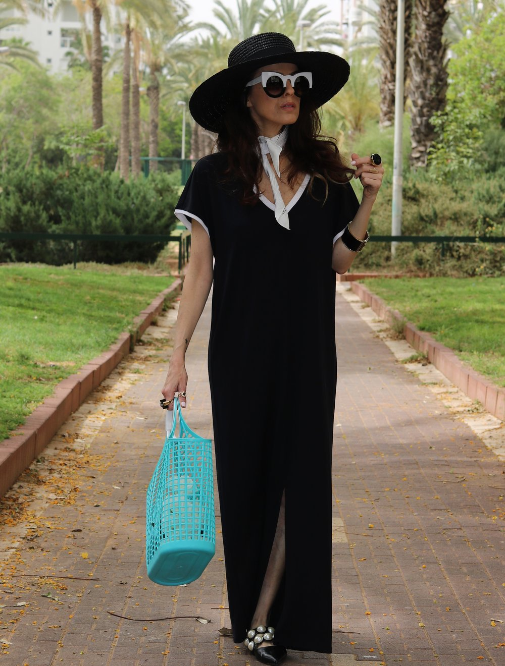 Dress, Story, Hat, mango, Sunglasses, Meirav's own, Shoes, Zara, Rings, La Flaca Loca