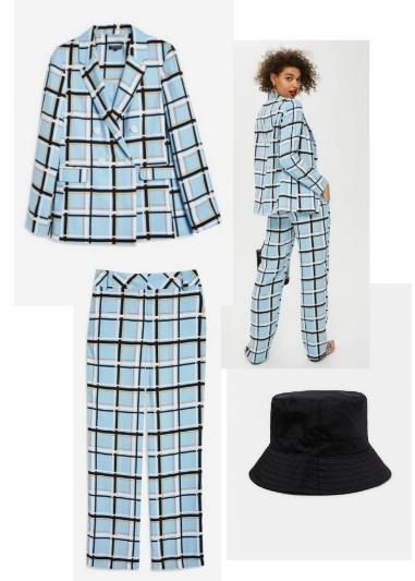 From top down: Suit, TopShop, Hat, Zara