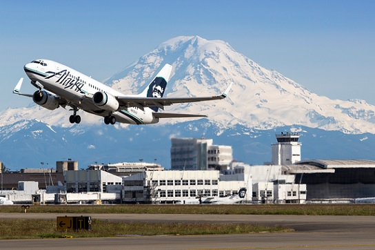 Seatac Airport in Seattle is the hub of Alaska Airlines