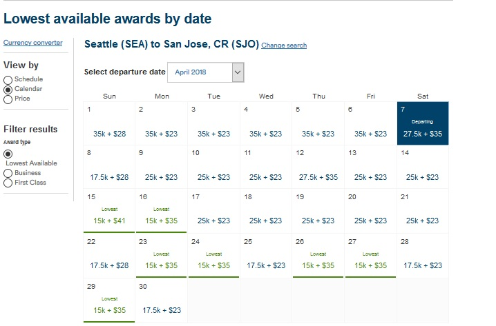 Use Alaska's Calendar Of Lowest Fares To Choose The Lowest Mileage Routes