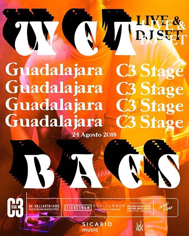 GUADALAJARA 👨🚀 Nos vemos el 24 de agosto 🌑✨ LIVE + DJ SET 📀🔥 Boletos en @ticketnow_mexico 🎟