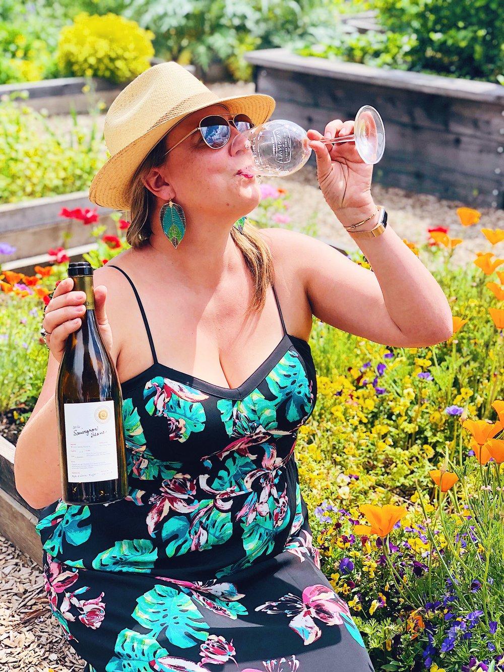 Sonoma Wine Life Drinking Sauvignon Blanc At Quivira