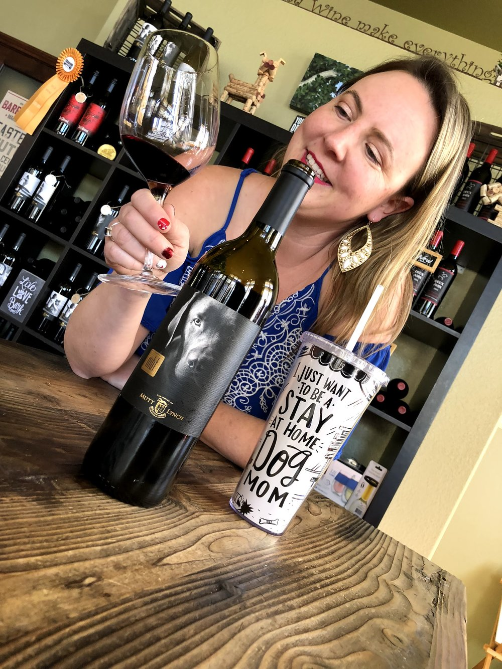 Wine Tasting Mutt Lynch