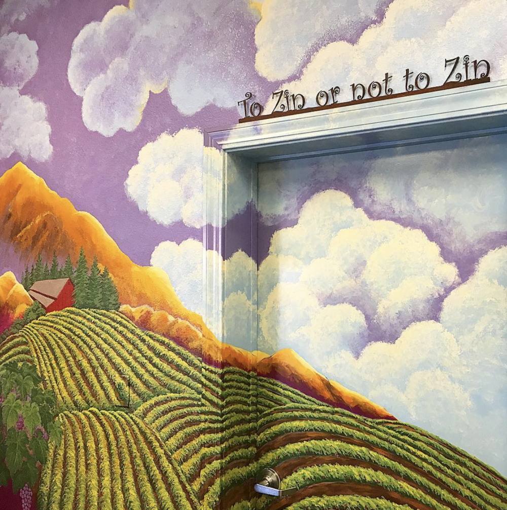 Carol Shelton Wine Mural In Tasting Room