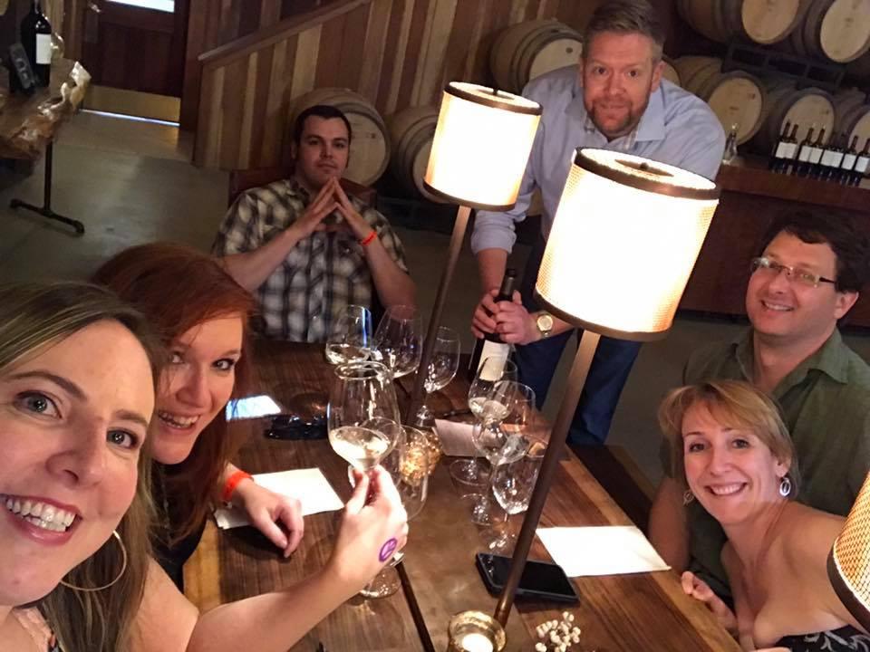 Wine tasting at Lambert