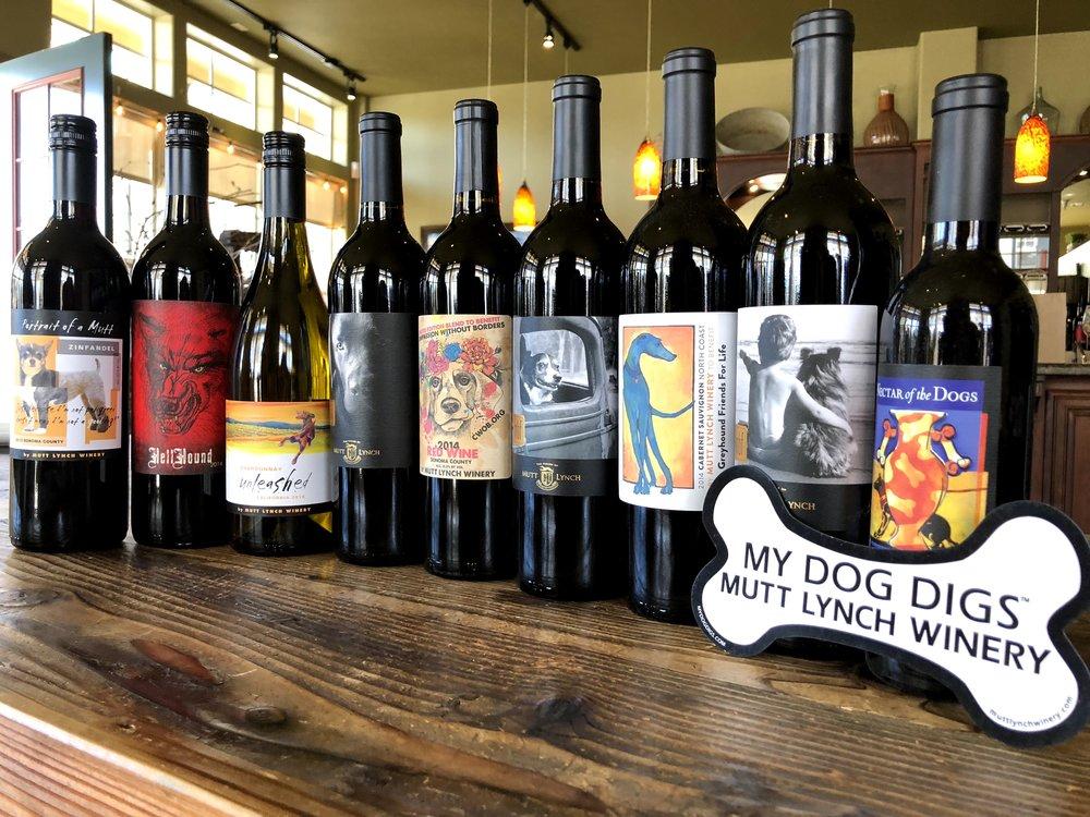 Mutt Lynch Wine Bottles