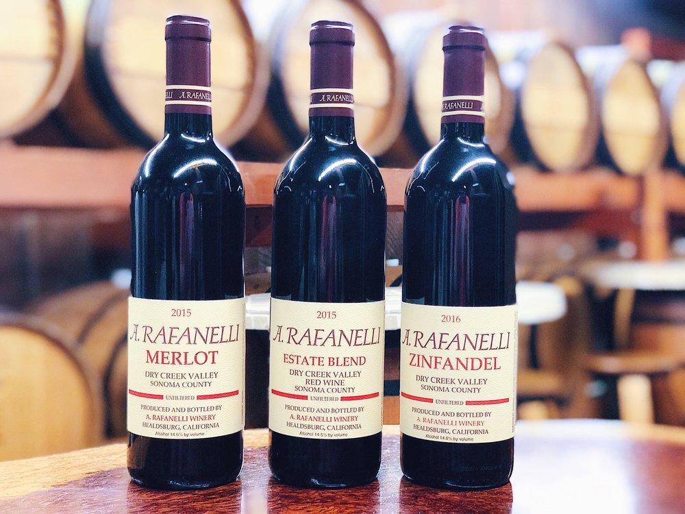 Rafanelli Wine Bottles Limited Availability