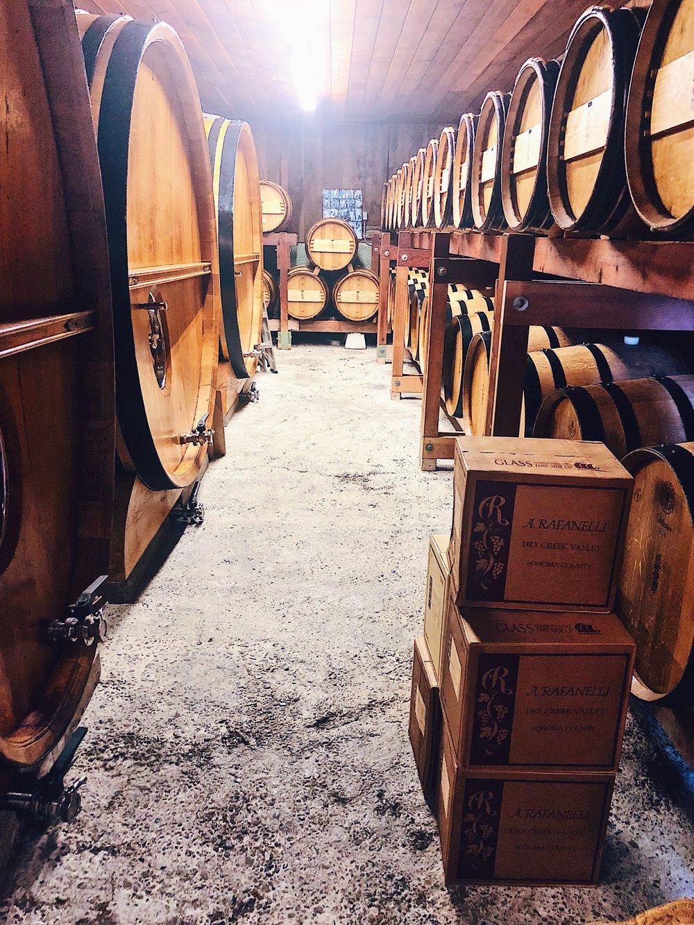 A. Rafanelli Winery Barrel Room