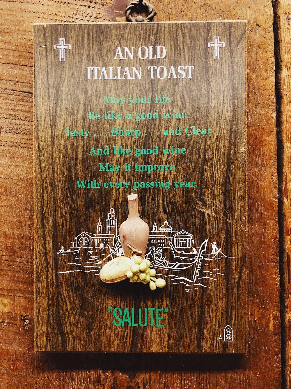 An Old Italian Toast