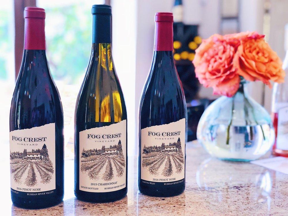 Fog Crest Wine Bottles