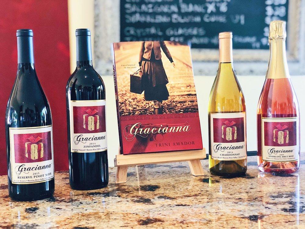 Gracianna Winery Wines Pinot Zinfandel Chardonnay