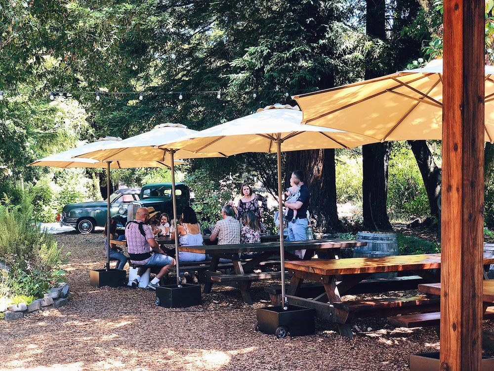 Russian River Vineyards Wine Garden