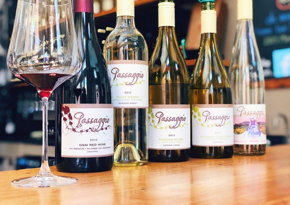 White Wines At Passagio