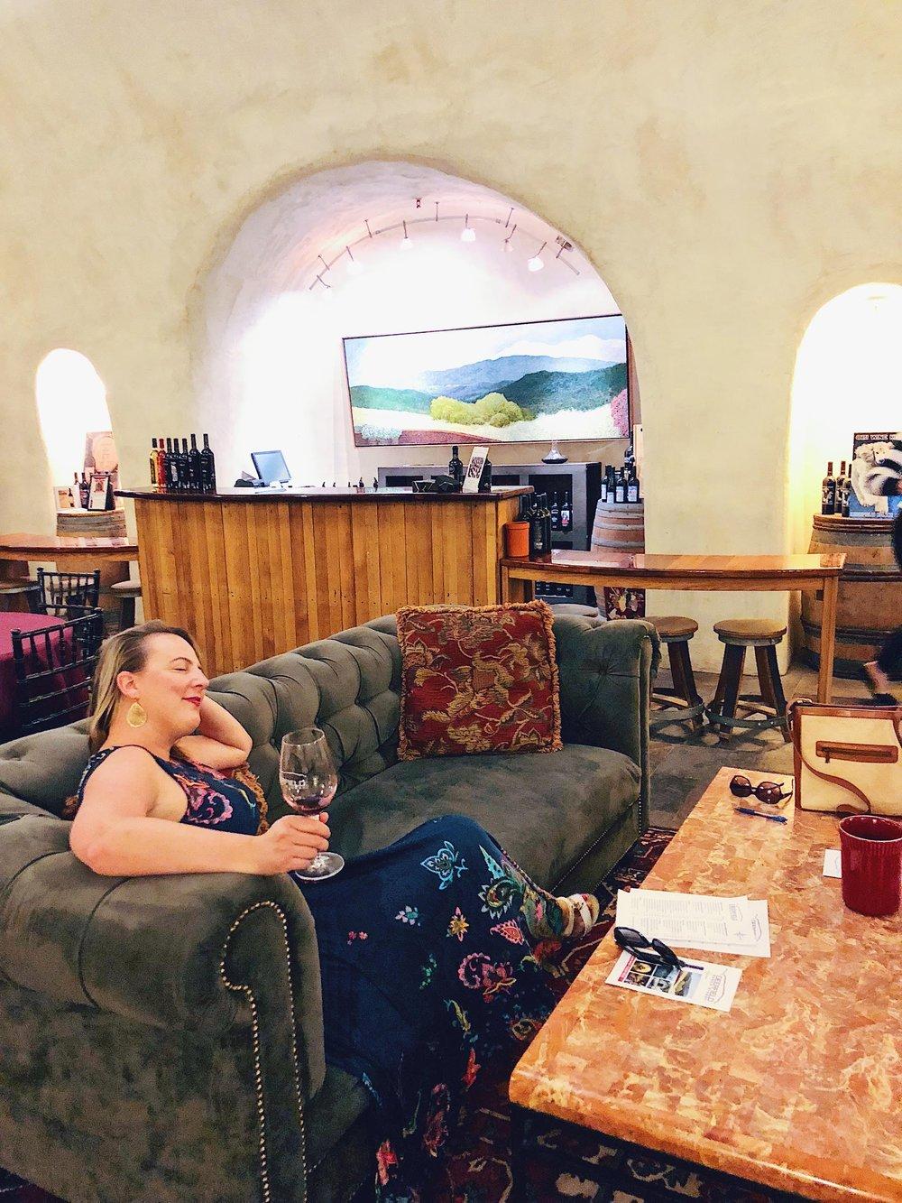 Cave Wine Tasting At Deerfield Ranch Winery