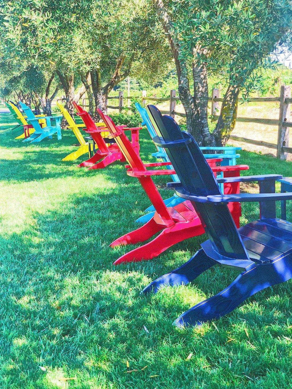 Adirondack Chairs At Martin Ray Winery